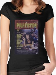 Pulp Fiction Poster Women's Fitted Scoop T-Shirt