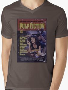 Pulp Fiction Poster Mens V-Neck T-Shirt