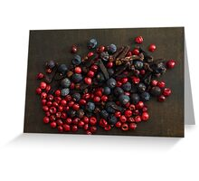 Different spice berries  Greeting Card