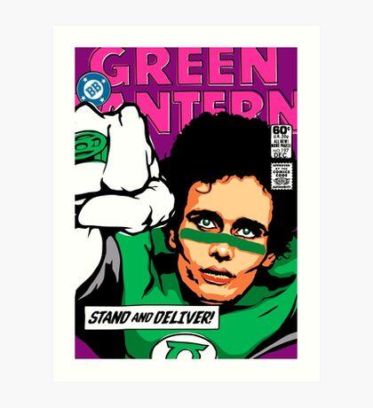 Post-Punk Super Friends - Green Art Print