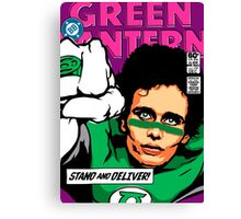 Post-Punk Super Friends - Green Canvas Print
