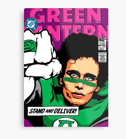 Post-Punk Super Friends - Green Metal Print
