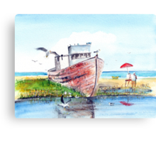 Hull of a retirement Canvas Print