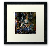 Cat Glancing Framed Print