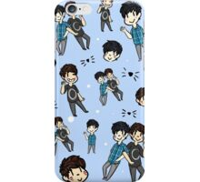 Dan & Phil Collage - Blue iPhone Case/Skin