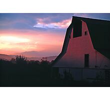 BARN,SUNRISE Photographic Print
