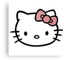 Hello Kitty w/ Red Glitter Bow Canvas Print