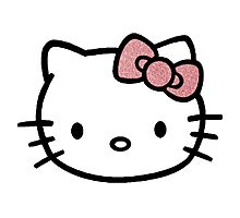 Hello Kitty w/ Red Glitter Bow Photographic Print