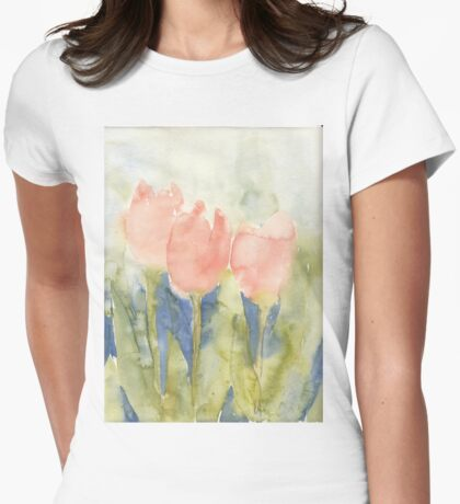 Three Pretty Maids In A Row Womens Fitted T-Shirt