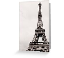 Le Tour de Eiffel Greeting Card