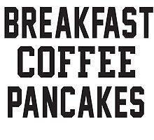 Breakfast Coffee Pankcakes by koleson