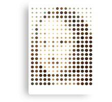 Mona Lisa Dots Canvas Print
