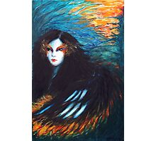 The Girl on Fire Photographic Print