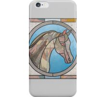 Stained Glass Map Horse iPhone Case/Skin