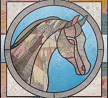 Stained Glass Map Horse by kimmysuewho