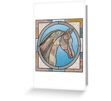 Stained Glass Map Horse Greeting Card