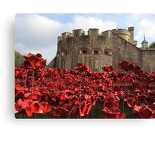 Tower of London poppies Canvas Print