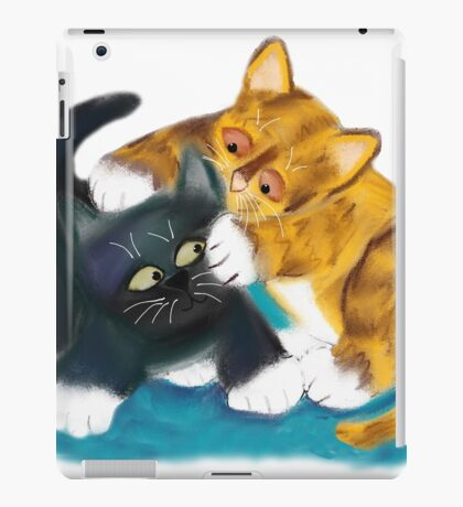 Two Kittens Wrestle iPad Case/Skin
