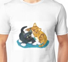 Two Kittens Wrestle Unisex T-Shirt