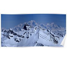 The needles of Arve and the Mont Blanc Poster