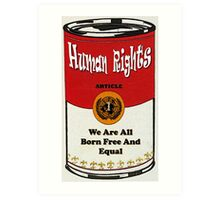 HUMAN RIGHTS ART - UDHR ARTICLE 1 Art Print