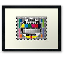 No TV Signal Poster Art - TV Graphics Poster Art in color - No Signal - Standby for transmission - TV Poster Art Framed Print