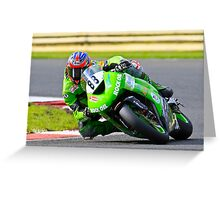 Scott Smart, Hawk Kawasaki, British Super bikes Croft Circiut 2008 Greeting Card