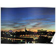 Sunset over Disney California Adventure Poster