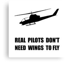 Helicopter Pilot Wings Canvas Print