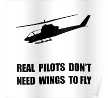 Helicopter Pilot Wings Poster