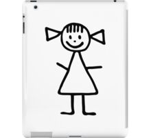 Stickman woman girl iPad Case/Skin