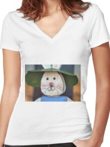 Rustic Easter Women's Fitted V-Neck T-Shirt