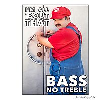 SexyMario MEME - All About That Bass Photographic Print