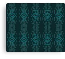 Green Interlocking Wisps Canvas Print