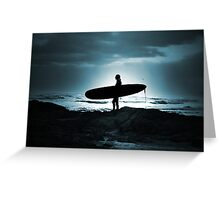 Blue Surfer Greeting Card