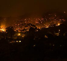 Bushfire at night by Arek Rainczuk