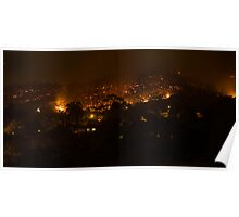 Bushfire at night Poster