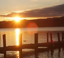 windermere at sunset by kiran mulholland
