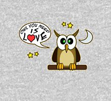 Owl you need is love! Womens Fitted T-Shirt