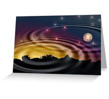 rippled reflection Greeting Card