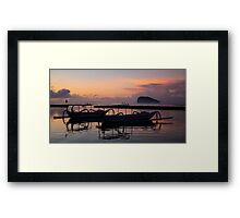 Candidasa Fishing Boats - By Paul Campbell Photography Framed Print