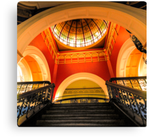 Stepping Up - The Grand Staircase - Queen VIctoria Building - The HDR Experience Canvas Print