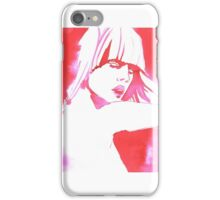 Red  girl portrait iPhone Case/Skin