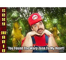 SexyMario MEME - You Found The Warp Zone To My Heart 1 Photographic Print