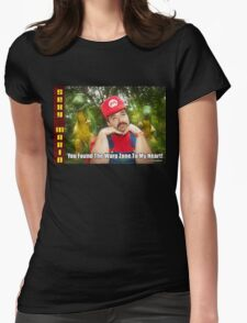 SexyMario MEME - You Found The Warp Zone To My Heart 1 Womens Fitted T-Shirt