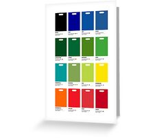 Supermarket Colours Greeting Card