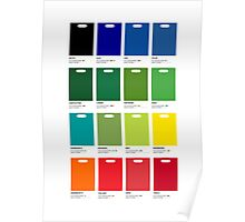 Supermarket Colours Poster