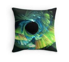 Fluffy feathers in the wind Throw Pillow