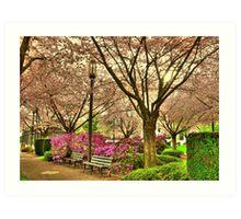 Spring day at the State Park Salem Oregon Art Print