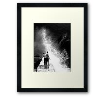 A Wee Splash Framed Print